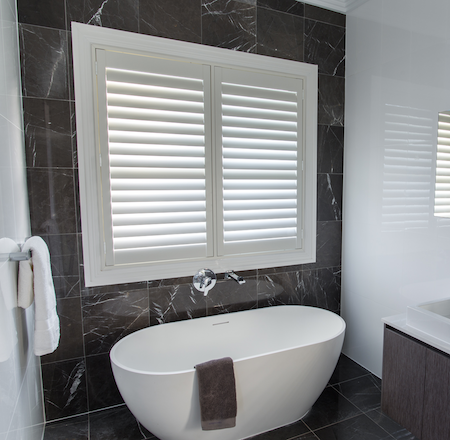 shutters for privacy in the bathroom