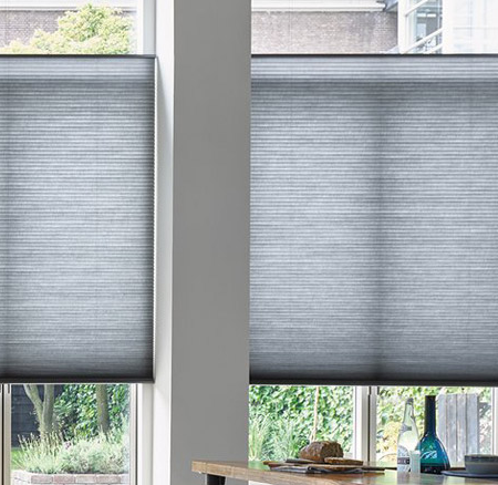 light filtering honeycomb blinds for soft diffused light in the kitchen