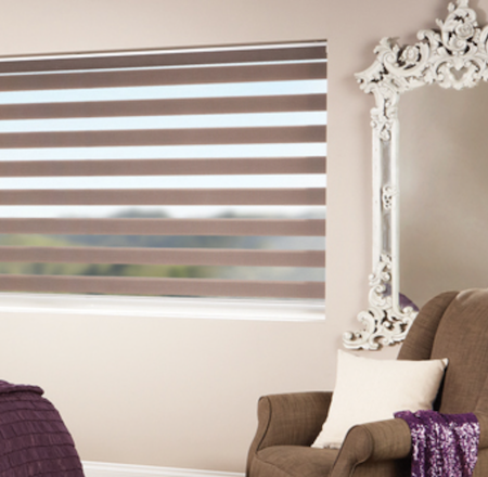 vision blinds in the master bedroom